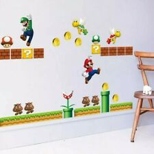 Super Mario  game Wall Stickers Nursery Kids Room Removable Mural Decal Decor