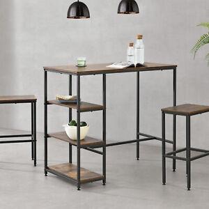 [en.casa] Bartisch Bartresen Stehtisch Tresentisch Lounge Theke Regal Tisch Holz