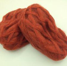 10 Pelotes laine mohair couleur : brique / fabriqué en FRANCE
