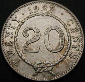 SARAWAK (Malaysia) 20 Cents 1927H - Silver - VF+ - 1186 ¤