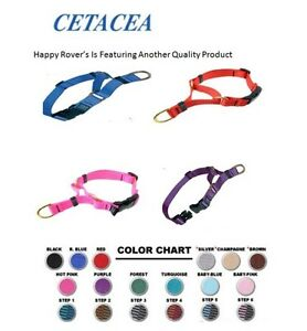 Cetacea Dog Collar Quick Release Buckle -Training Martingale -Pick Size/Color
