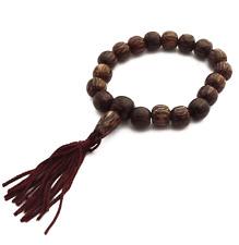 Mini Buddha Gebetsarmband Kokos INDIEN OM