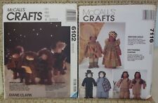 McCall's Crafts Dolls Pattern #6102 or #7116 Dolls CHOICE- Christmas & Ethnic