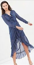 The Fifth Label - XS Titania Wrap Classic Dress (Blue With White)