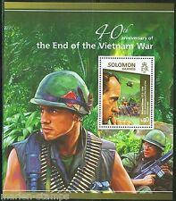SOLOMON ISLANDS 2015 40TH ANNIVERSARY OF THE END OF VIETNAM WAR  SOUVENIR SHEET