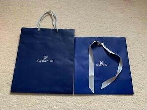 SWAROVSKI CRYSTAL Very LARGE (XL) GIFT BAG Rope Handles +Large Envelope Type Bag