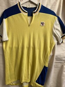 Retro French Mens Wool Cycling Jersey Size Medium Malliot L'eroica Cyclismo