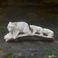 Bears Group Carved 154mm Length in Deer Antler Carving ST511 Table Decor