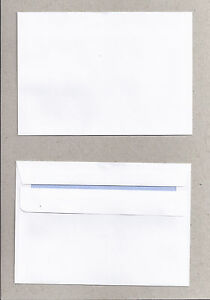 10 C6 Envelopes - White, Self-seal - 114 x 162mm