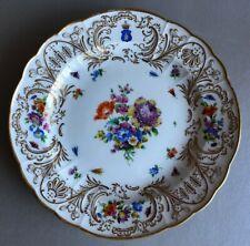 Porzellan Wappenteller, Meissen 1815-1860, GRAFENWAPPEN, Krone & Schild, Lilie