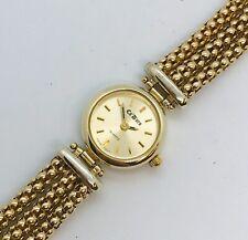 Ladies 9ct yellow gold ca'dora bracelet watch gold weight 24.41 grm Value £1,800