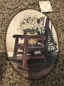 Gallery Graphics Rocking Chair Quilt Flower BasketFlue Cover