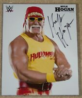 "WWF SIGNED PROMO HULK HOGAN WWE WRESTLING 8x10"" PHOTO wcw nWo"