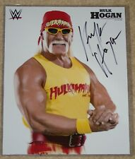 "HULK HOGAN SIGNED WWF WWE WRESTLING 8x10"" PROMO PHOTO wcw nWo"