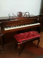 Baldwin Acrosonic Piano With Bench - Mahogany - Serial # 581710