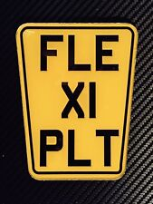 Motorcycle Flexible Number Plate Off Road Trials Flexi Any Text Show Plate