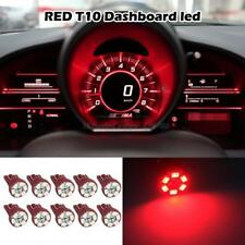 10 Bright Red Color Gauge Cluster Instrument Speedometer Dash LED Light Bulb 168