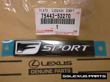 Lexus IS250 IS350 (2014-2017) OEM Genuine REAR FSPORT F SPORT EMBLEM 75443-53270