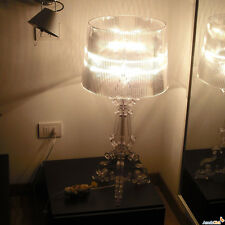 """New Height: 19.6"""" Contemporary CLEAR Bourgie Transparent Table Desk Lamps Lights"""