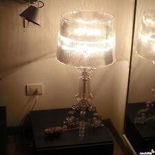 """LED Desk Lamp Bourgie Transparent Table Lights Bedroom Light H19.6"""" Bdeside Lamp"""