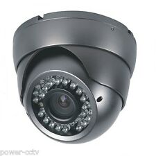 1800 Color CMOS CCD 36 IR 2.8-12mm VariFocal Zoom Dome Security Camera Gray