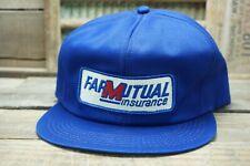 Vintage FARMUTUAL INSURANCE SnapBack Trucker Hat Cap Patch K Brand Made USA