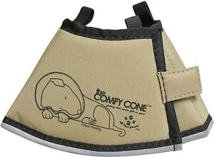 Original Comfy Cone - XS OR S Long - TAN - Soft Pet Recovery - Easy On/Off - NWT