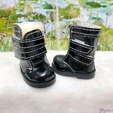 Mimiwoo Yo SD 1/6 BJD Doll Shoes Double Strap Boots Black  (for Foot 4.5cm long)