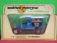 Lesney Matchbox Models of Yesteryear in Window Box Y-12 Ford Model T Van Cerebos