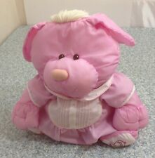 BEAUTIFUL PINK, FISHER PRICE PUFFALUMP BEAR PUPPY, PINK ROMPER..GREAT COND.