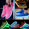 Kids Unisex 7 LED Light Lace Up Luminous Shoes Sportswear Sneaker Luminous Shoes