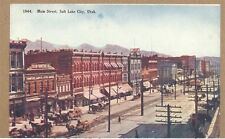 c1910s Main Street Salt Lake City UT PC Trolley Co-Op Furniture Co.