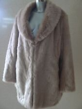 SO FABULOUS Luxe Faux Fur Coat / Jacket UK Size 18  Women's NEW  TAGS