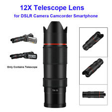 Ordro 12X Telescope Lens for Camcorder Camera Mobile Phone External Accessories