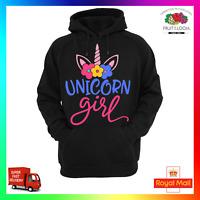 Unicorn Girl Hoodie Hoody Cute Sweat Cool Fantasy Glitter On Point Fun Unisex