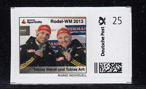 D. Briefmarke Individuell  Rodel WM  Wendl & Arlt     **