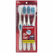 NEW Colgate 360 Optic White 4 Soft Toothbrushes