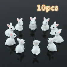 10x Cute Mini Rabbit Ornament Miniature Figurine Plant Pot Fairy Garden Decor