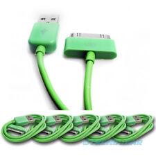 5PCS USB SYNC DATA POWER CHARGER CABLE APPLE IPAD IPHONE IPOD CLASSIC NANO GREEN