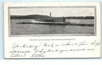 Richfield Springs NY Canadarago Lake Steamboat Vintage Postcard D21