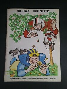 Vintage 1968 Ohio State vs Michigan Football Official Program                C9A