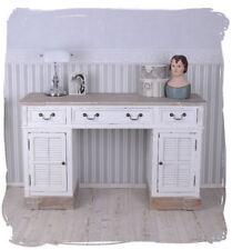 Vintage Schreibtisch Bürotisch Landhausstil Sekretär Holz Schubladen und Türen