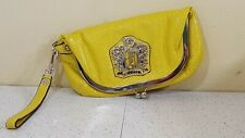 Guess By Marciano Soft Leather Handbag Folding Purse Clutch Yellow