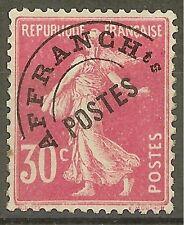 "FRANCE STAMP TIMBRE PREOBLITERE N°59 "" SEMEUSE FOND PLEIN 30c ROSE "" NEUF xx TB"