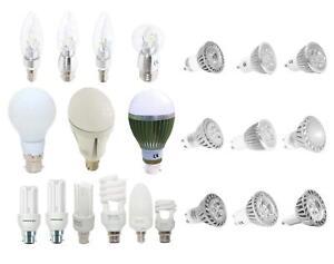 LED & CFL Light Bulb Energy Saving GU10/MR16/E14/E27/B22/B15 Candle/Spotlight