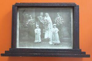 Vintage 1930s Art Deco Wooden Free Standing Frame Photo Picture Retro Original