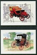 TANZANIA - 'VINTAGE CARS' Souvenir Sheets x 2 MNH [A6483]