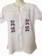 Wholesale Lot Of 10 Comfortable Embroidery 100% Cotton Summer Lira Blouses