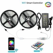 32.8ft LED Strip light Alexa Smart Home WIFI 5050 RGB Waterproof tape Light Kit