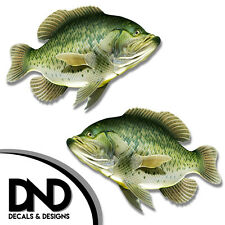 """Crappie - Fish Decal Fishing Tackle Box Bumper Sticker """"5in SET"""" F-0120 D&"""